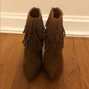 JustFab Shoes - Fringe Booties